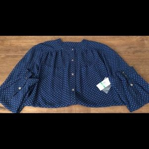 VINCE CAMUTO-NWT Women's Long Sleeve Blouse